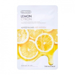 The Face Shop Real Nature Lemon Face Mask - Тканевая маска для лица с экстрактом лимона, 20 мл