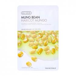 The Face Shop Real Nature Mung Bean Face Mask - Тканевая маска для лица с экстрактом бобов мунг, 20 мл