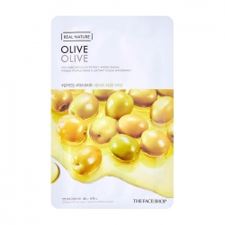 The Face Shop Real Nature Olive Face Mask - Тканевая маска с экстрактом плодов оливы, 20 мл