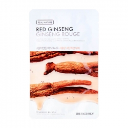 The Face Shop Real Nature Red Ginseng Face Mask - Тканевая маска с экстрактом красного женьшеня, 20 мл