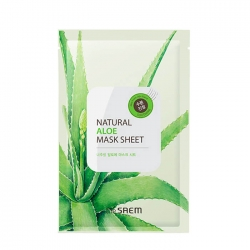 The Saem Natural Aloe - Тканевая маска для лица с экстрактом сока алоэ вера, 21 мл