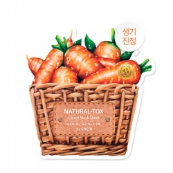 The Saem Natural-tox Carrot Mask Sheet - Тканевая маска для лица с натуральным экстрактом моркови, 20 мл