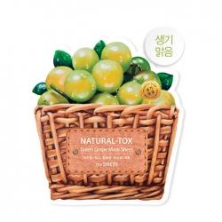 The Saem Natural-tox Green Grape - Тканевая маска для лица с экстрактом зелёного винограда, 20г