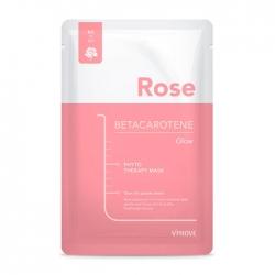 Vprove Phyto Therapy Mask Sheet Betacarotene Glow - Тканевая маска Увлажняющая с экстрактом розы и эффектом сияния кожи, 20 мл
