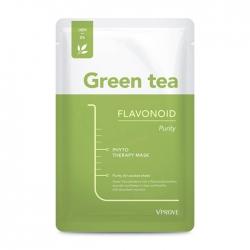 Vprove Phyto Therapy Mask Sheet Green Tea Flavonoid Purity - Тканевая маска Матирующая с экстрактом зелёного чая, 20 мл