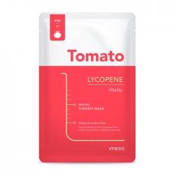 Vprove Phyto Therapy Mask Sheet Tomato Lycopene Vitality - Тканевая маска Витаминная увлажняющая с экстрактом томата, 20 мл
