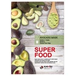 Eyenlip  Super Food Avocado Mask - Маска на тканевой основе с экстрактом авокадо, 23 мл