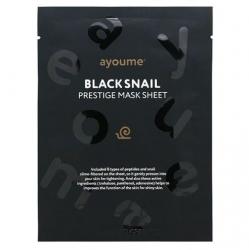 Ayoume BLACK SNAIL PRESTIGE MASK SHEET  -  Маска тканевая с муцином черной улитки, 25мл