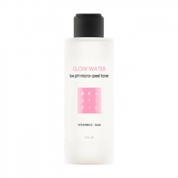 Beautific Glow Water Low pH Micro-Peel Toner - Обновляющий тонер для кожи лица с низким pH и витамином С, 150 мл