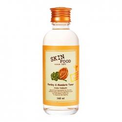 Skinfood Parsley and Mandarin Toner - Тонер для лица с экстрактом петрушки и мандарина, 160 мл