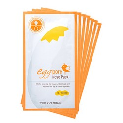 Tony Moly Pack mask Egg Pore Nose Package - Пластырь для носа от черных точек, 7 шт