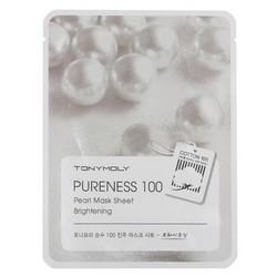 Tony Moly Sheet gel mask Pureness 100 Pearl - Маска тканевая с экстрактом жемчуга, 21 мл