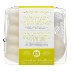 The Konjac Sponge Company Travel/Gift Sponge Bag Duo Pack - Дорожный набор спонжей в косметичке-сеточке