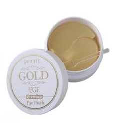 Petitfee Hydro Gel Eye Patch Premium Gold & EGF - Гидрогелевые патчи для области вокруг глаз с коллоидным золотом и эпидермальным фактором роста 60 шт. (на 30 применений)