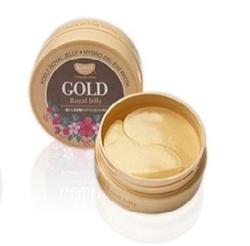 Koelf Hydro Gel Gold & Royal Jelly Eye Patch - Гидрогелевые патчи для области вокруг глаз с натуральным экстрактом пчелиного маточного молочка и коллоидным золотом  60 шт. (на 30 применений)