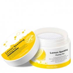 Secret Key Lemon Sparkling Peeling Pad - Ватные диски для пилинга, 70 шт
