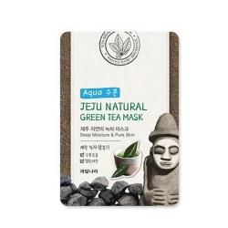 Welcos Jeju Nature's Green Tea Mask - Маска на тканевой основе для лица успокаивающая, 20 мл