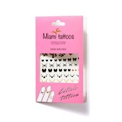 Miami Tattoos Cheap And Chick - Временные татуировки для рук, 10*15 см