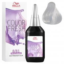 Wella Color Fresh Silver - Оттеночная краска для волос без аммиака 8/81 светлый блонд жемчужно-пепельный 75мл
