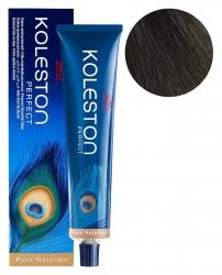Wella Koleston Perfect Pure Naturals - Стойкая крем-краска 33/0 Темно-коричневый интенсивный 60мл