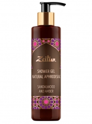 Zeitun Shower Gel Sandalwood & Amber - Гель для душа Сандал и амбра с натуральными афродизиаками, 250мл