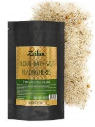 Zeitun Floral Bath Salt Healing Herbs - Соль для ванн «Целительные травы» с чабрецом и царской свечой, 500г